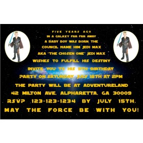 Star Wars Photo Invitations - 2 PHOTOS
