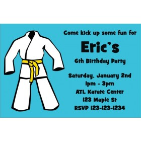 Karate TaeKwanDo Martial Arts Invitation - ALL COLORS