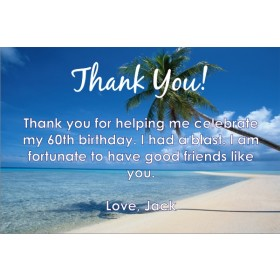 Beach Thank You Cards