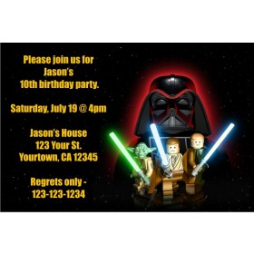 Star Wars - Lego Star Wars Invitations