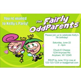 Fairly Odd Parents Invitations - Green