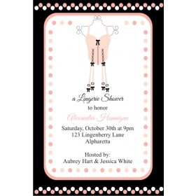 Lingerie Bridal Shower Bachelorette Party Invitation