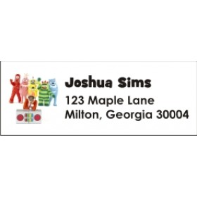 Yo Gabba Gabba Return Address Labels