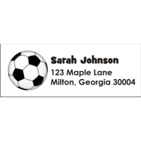 Soccer Ball Personalized Return Address Labels
