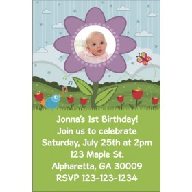 Flower Photo Invitation