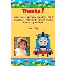 Thomas the Tank Engine (Train) Thank You Cards - Choo Choo Yellow