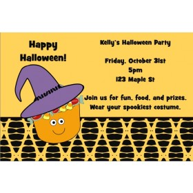 Candy Bucket Halloween Party Invitation