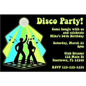 Disco Invitation