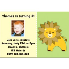 Lion Photo Invitation - ALL COLORS