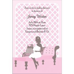 Sitting Pretty Baby Shower Invitation - Pink