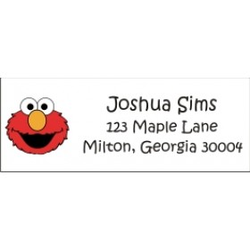 Elmo Sesame Street Return Address Labels
