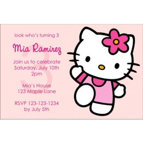 Hello Kitty Invitations - Pink Power