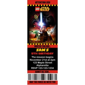 Lego Star Wars Ticket Style Invitations (slim style)