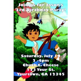 Go Diego Go! Invitations