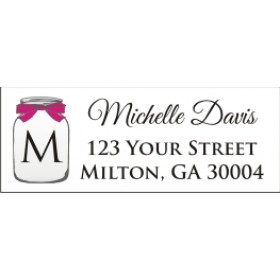 Mason Jar Return Address Labels