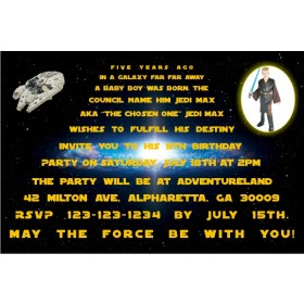 Star Wars Photo Invitations