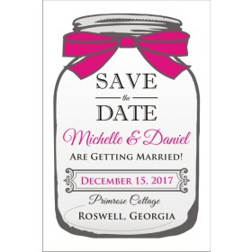 Mason Jar Save the Date Card