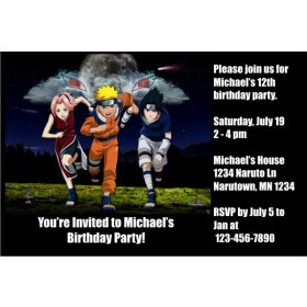 Naruto Invitations 2