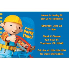 Bob the Builder Invitations 2