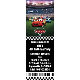 Cars Ticket Style Invitation (slim)