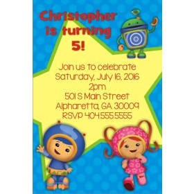 Team Umizoomi Birthday Party Invitation - Blue