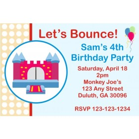 Bounce House / Castle Invitation 2