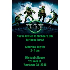 Teenage Mutant Ninja Turtles Invitations - TMNT