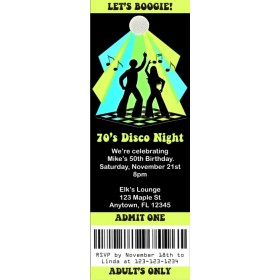Disco Ticket Style Invitations (slim style)