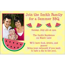 Watermelon Photo Invitation