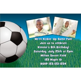 Soccer Photo Invitation