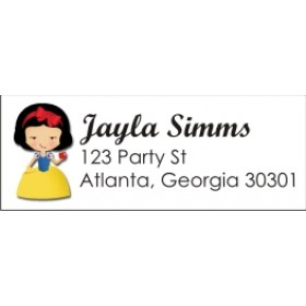 Snow White Return Address Labels