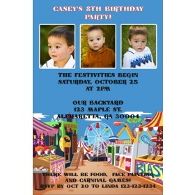 Carnival Photo Invitation