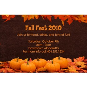 Fall Pumpkins Thanksgiving Autumn Invitation