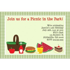 Picnic Invitation - Yummy Food