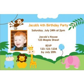 Party Animals Invitation 2 - Photo