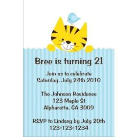 Kitty and Birdie Invitation
