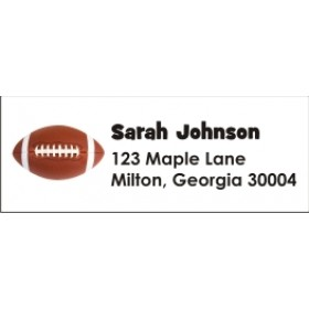 Football Return Address Labels