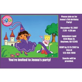 Dora the Explorer Invitations