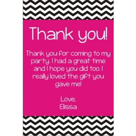 Chevron Stripes Thank You Card - Choose your colors