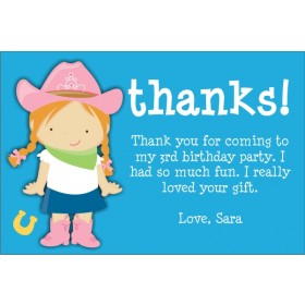 Cowgirl Thank You Cards (Select a Cowgirl)