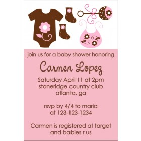 Mod Baby Elements Invitation (Pink)