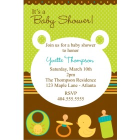 Baby Bear Baby Shower Invitation