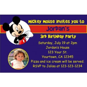 Mickey Mouse Photo Invitations