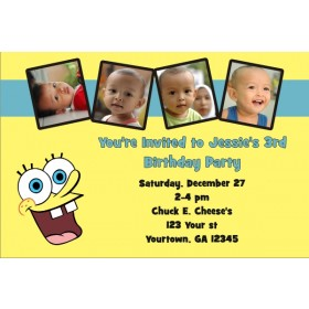 Spongebob Squarepants Photo Invitations