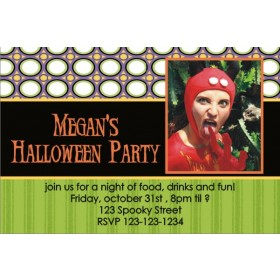Halloween Party Photo Invitation