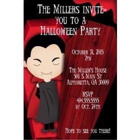 Spooky Dracula Vampire Halloween Party Invitation