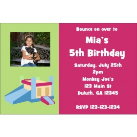 Bounce Castle Photo Invitation 2 - ALL COLORS