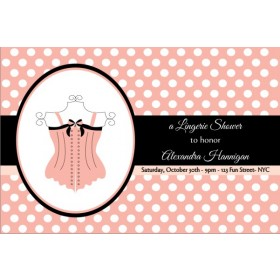 Lingerie Bridal Shower Bachelorette Party Invitation 4