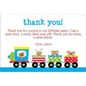 Train Thank You Card