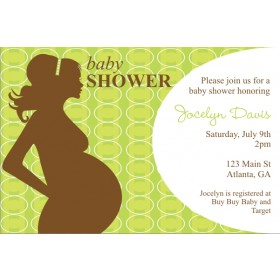 Mod Momma Baby Shower Invitation - Green
